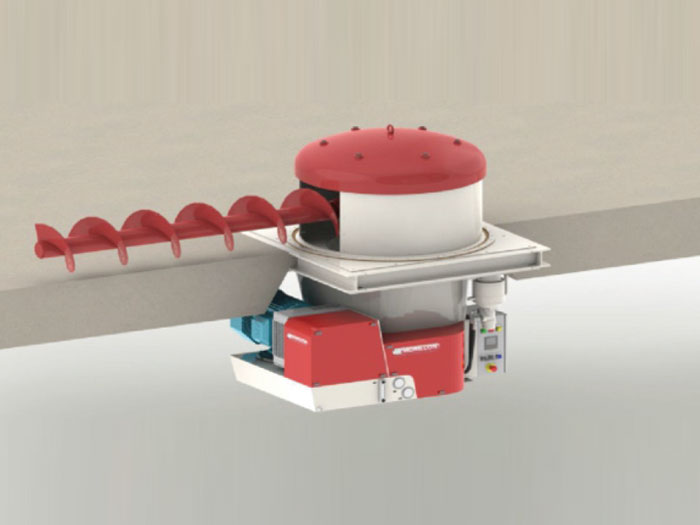 Discharge system-Spiral clearance machine
